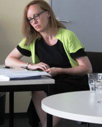 Профессор Зюзанна Франк, ведущая дискуссии