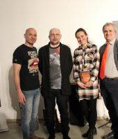 Алексей Иванов с организаторами вечера