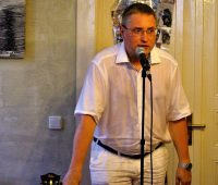 Пианист Вениамин Левицкий (после выступления)